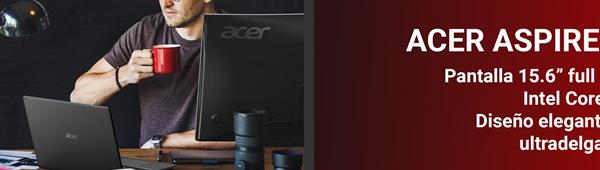 Nuevas notebooks Acer aspire 5 intel core i7 pantalla full hd de 15.6 pulgadas con teclado numérico ultradelgadas y elegantes configurables con discos sólidos y más memoria