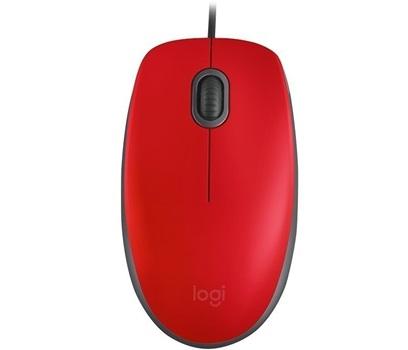 Mouse Usb Logitech Silent M110s Rojo