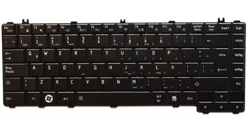 Teclado Toshiba Serie L600 C600 Negro