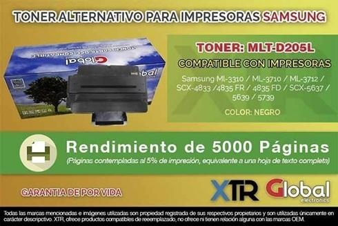 Toner Alternativo Samsung Mlt-D205l