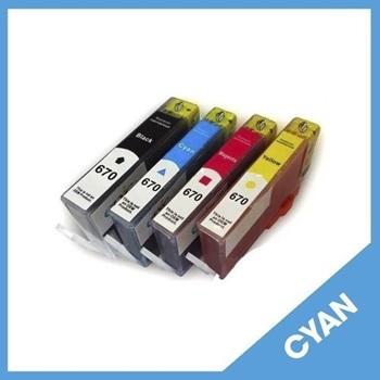 Cartucho HP 670 Cz114al Cyan