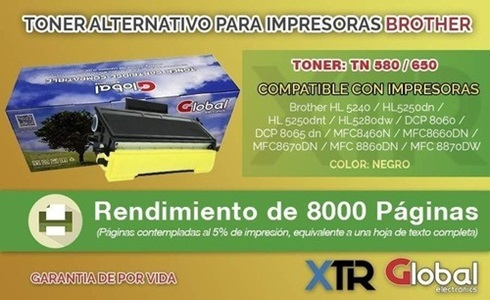 Toner Alternativo Brother Tn 580/650