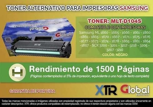 Toner Alternativo Samsung Mlt-D104s