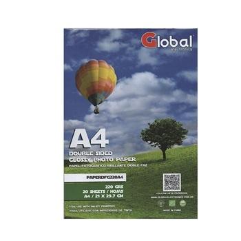 Papel Glossy Doble Faz En Resma De 20 Hojas A4 (21