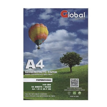 Papel Glossy En Resma De 50 Hojas A4 (21 X 29 7cm)