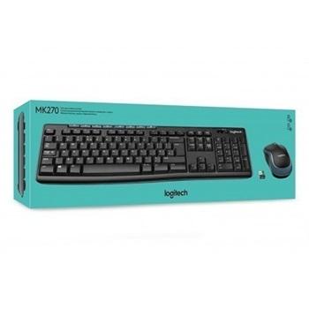 Teclado Y Mouse Logitech Combo Wireless Mk270