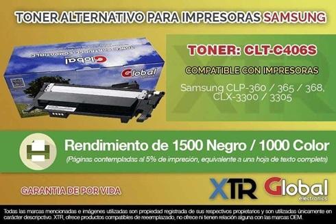 Toner Alternativo Samsung Clt-K406s Negro