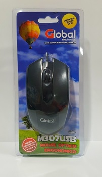 Mouse Usb Global M307 Negro / Azul